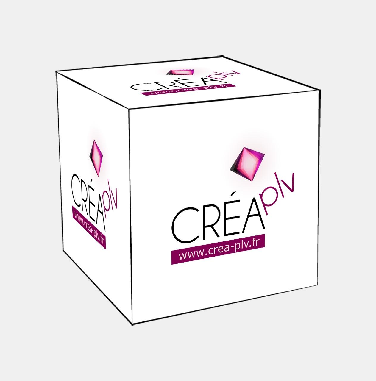 cube en carton pour plv de comptoir plv de comptoir. Black Bedroom Furniture Sets. Home Design Ideas